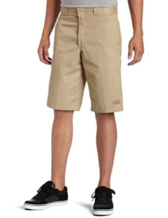 "Dickies Men's 13"" Relaxed Fit Multi-Pocket Work Short,Khaki,US 33"