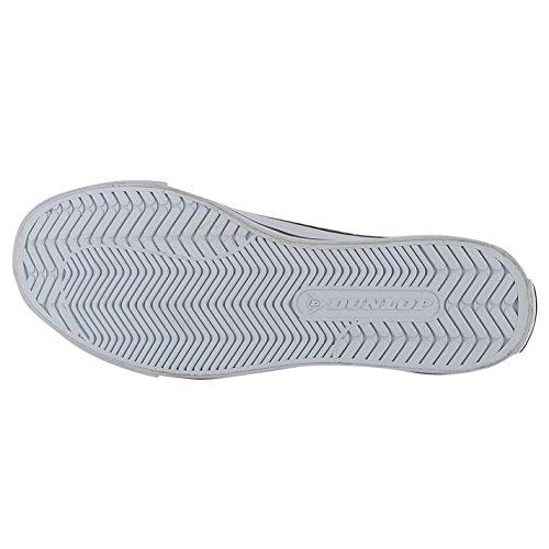 Dunlop Damen Canvas Flach Turnschuhe Marineblau