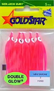 SILVER HORDE Goldstar Mini Squid Glow Pink #20 Mini Sardine