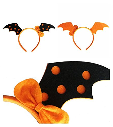 Cute Halloween Kids Headband Funny Skull Bat Witch Pumpkin Hair Hoop Headpiece Halloween Costume Party Creative (Cute Diy Halloween Headbands)