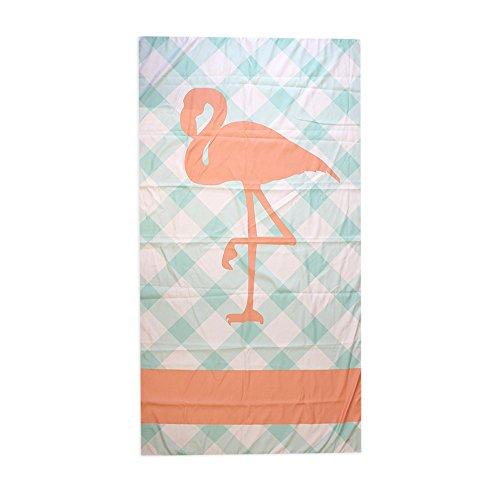 Aqua Coral Flamingo 40 x 70 Inch Microfiber Ultra Thin Large Beach Towel (Flamingo Coral)