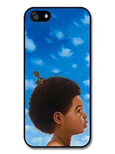 AMAF ? Accessories Baby Drake Head Illustration Blue Sky Clouds case for iPhone 5 5S hjbrhga1544
