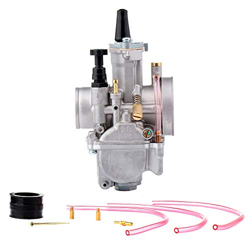 (AUTOMUTO PWK28mm Carburetor Fits Dirt Pit Bike, ATV, Go Kart, Motorcycle, Scooters Engines Carb Assembly)
