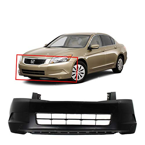 MBI AUTO - Primered, Front Bumper Cover Fascia for 2008 2009 2010 Honda Accord Sedan 08 09 10, -