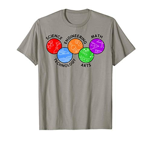 STEAM Colorful Icons Engineering and Innovation T-Shirt