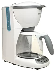 Braun KF580  AromaDeluxe 10-Cup TimeControl Coffemaker, White