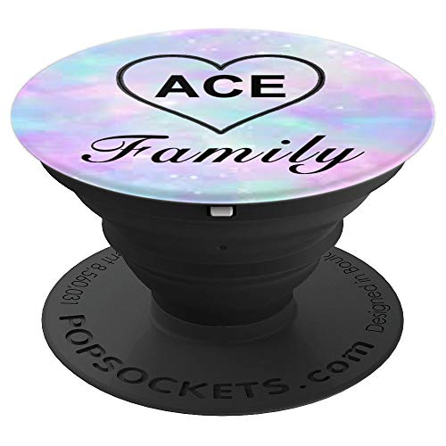 (Ace Family Heart, Pink & Blue Sky - PopSockets Grip and Stand for Phones and)