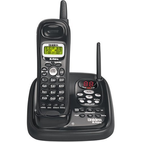 (Uniden EXAI7248 2.4 GHz Cordless Phone with Digital Answering System and Caller ID)