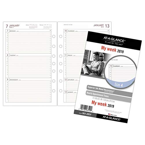 AT-A-GLANCE 2019 Weekly Planner Refill, Day Runner, 5-1/2
