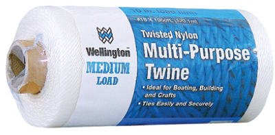 Wellington Cordage 10485 Puritan #18 x 1050-Ft. White Nylon Seine Twine - Quantity 20