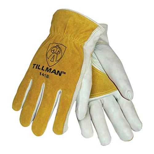 Tillman 1418 Reinforced Top Grain/Split Cowhide Drivers Gloves, Medium