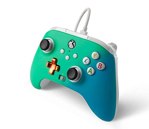 PowerA Enhanced Wired Controller for Xbox – Seafoam Fade, Gamepad, Wired Video Game Controller, Gaming Controller, Xbox Series X|S, Xbox One – Xbox Series X (Only at Amazon) 41MS0yZmbTL