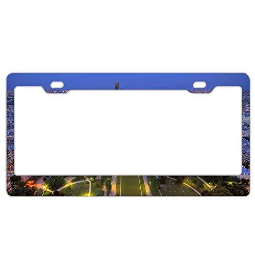 (GGRGVR Decor Car Vehicle License Plate Souvenir Metal Sign Plaque France Paris Stadium Park)