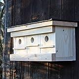 Mehrfamilien-Spatzenhaus mit Witterungsschutz für Ihren Garten