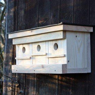 Mehrfamilien-Spatzenhaus mit Witterungsschutz für Ihren Garten Naturwerkstatt