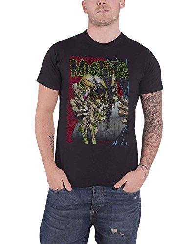 Misfits T Shirt Pushead Band Logo Official Mens Black