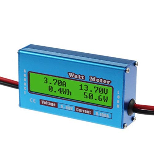 ZicHEXING Digital Monitor LCD Watt Meter 60V/100A DC Ammeter High Accuracy RC Battery Amp Analyzer Tool Power Energy Watt Meter