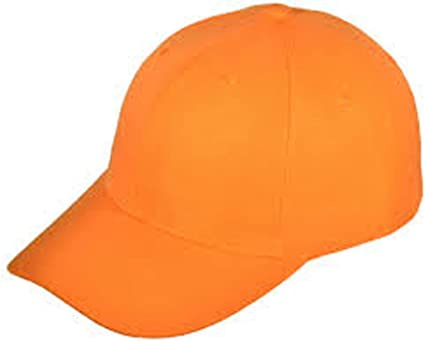 ***ORANGE*** WHOLESALE LOT OF 12 PLAIN BLANK SOLID BASEBALL CAPS HATS