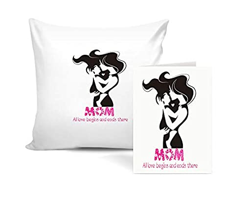 Buy Khakee Quote for Mom Theme Cushion Cover 12×12 with