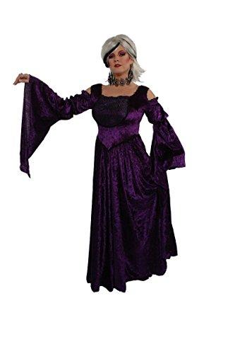 Alexanders Costumes Women's Gothic Vampira, Purple, 1X/2X
