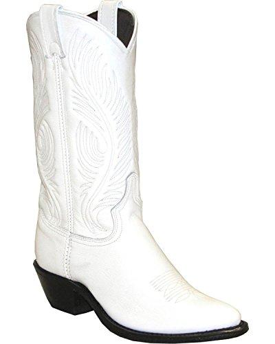 Abilene Mujeres Western Cowgirl Bota Round Toe - 9054 Blanco