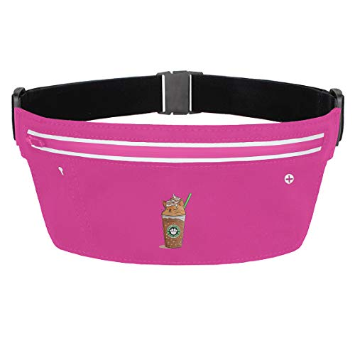 Rainbow Magnet Lovely Cat Coffee Fanny Pack Waist Bag Sling Pocket Super Lightweight Running Belt Bags for Men/Women