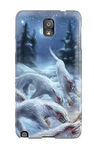 GkmjFPr1052doQjg Case Cover, Fashionable Galaxy Note 3 Case - Werewolf