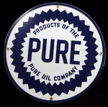 Pure Oil Sign for sale | Only 3 left at -60%