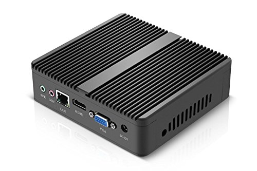 XCY Fanless Mini PC J1800 Single Lan With Mini Windows 7 System Computer,4G RAM and 32G SSD,2.41GHz,Wi-Fi