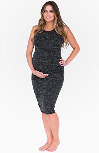 PERFECT NURSING DRESS CHARCOAL SMALL by Belly Bandit