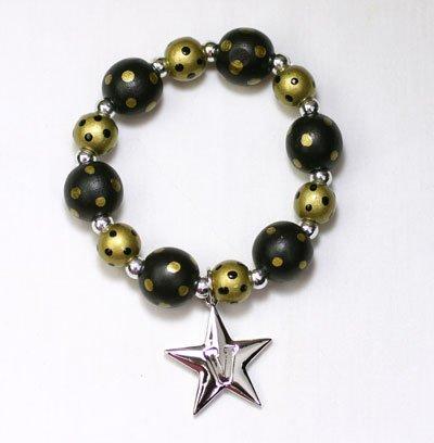 Price comparison product image Vanderbilt Commodores - NCAA Polka Dot Logo Stretch Bracelet