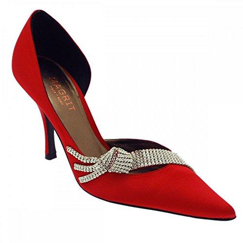 Zapatos Mujer Rojo Vestir De Magrit Para dTwvW80pd