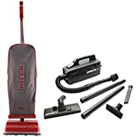 Oreck Commercial U2000RB-1 Commercial 8 Pound Upright Vacuum Bundle with Oreck Super Deluxe Compact Vac - BB880AD
