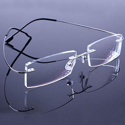 216c87e2801 BuyWorld Unisex Vintage Retail 9 Colours Lightweight Rimless Memory  Titanium Prescription Eyeglasses  Spectacles Optical Frames  Amazon.in   Health ...
