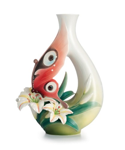 Amazon Franz Porcelain Butterfly And Lily Vase Limited Edition