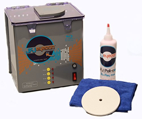 JFJ One-Step Eyecon Mini Video Game, CD, DVD, Blu-Ray Repair Machine 110V (Blu Disc Ray Mini)