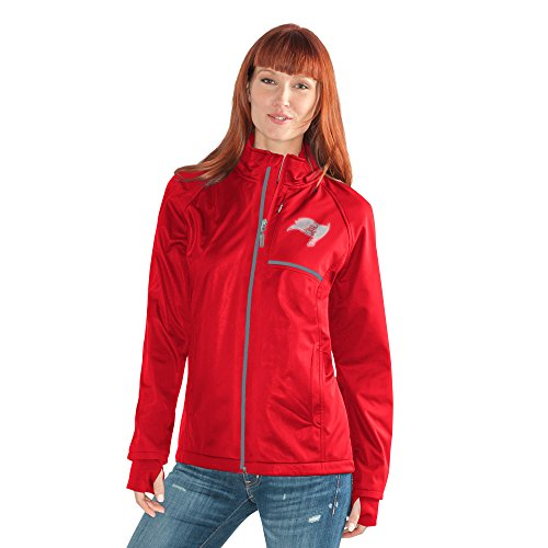 (GIII For Her Adult Women Cut Back Soft Shell Jacket, Red, X-Large)