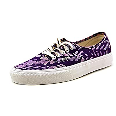 Vans Unisex Authentic Della Lace Up Sneakers-Batik/Multi-5.5