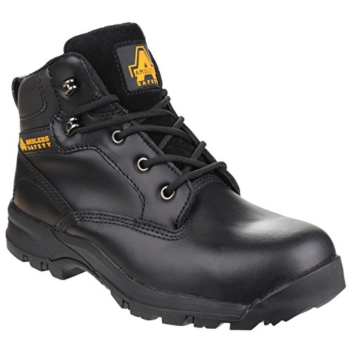 Leather Boots Amblers RYTON Black Ladies AS104 Safety Black Safety AqqBI