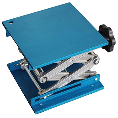OESS Lift Table Lab Stand Lifter Scientific Scissor Lifting Jack Platform 6''X 6'' Aluminium Oxide ()