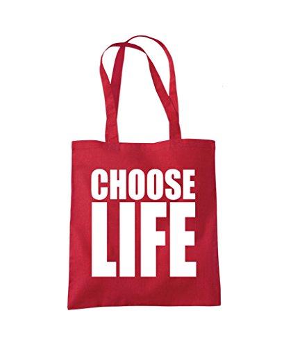 Red Choose Shopper Fashion Tote Fashion Tote Life Red Shopper Bag Life Choose Bag OqXwdUXS