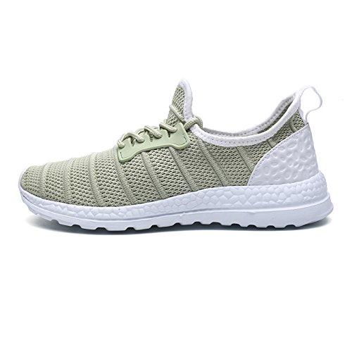 Un Autre Été Unisexe Maille Respirante Sport Chaussures De Sport Vert