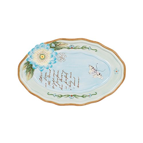 Fitz and Floyd Toulouse Collection Appetizer Plate, Blue