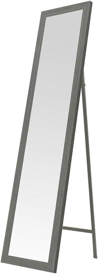 Espejo de pie Gris nórdico de Madera de 37x157 cm - LOLAhome
