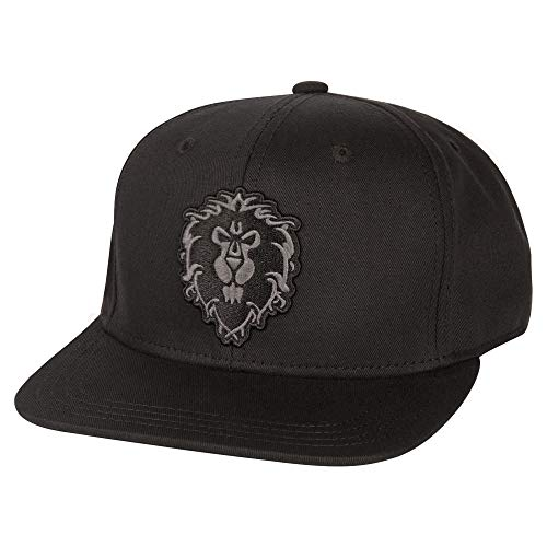 JINX World of Warcraft Blackout Alliance Snapback Baseball Hat (Black, One Size)