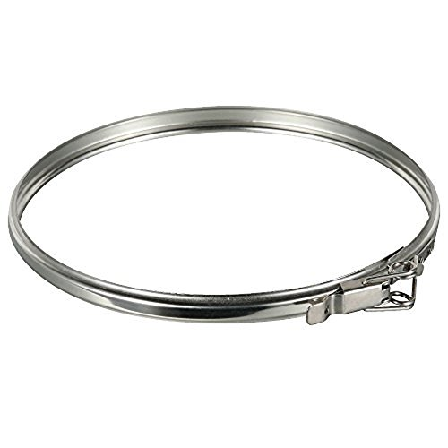 Rainbow Chimney Stainless Steel Locking Band for 6 Inch Stove Pipe Double Wall - Pipe Wall Support Band