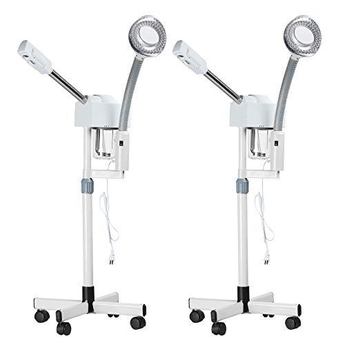 SUNCOO Set of 2 2 in 1 Professional Ozone Facial Steamer 5X Magnifying Lamp Floor Stand Spa Beauty Facial Clean Skin Care Equipment by SUNCOO (Image #9)