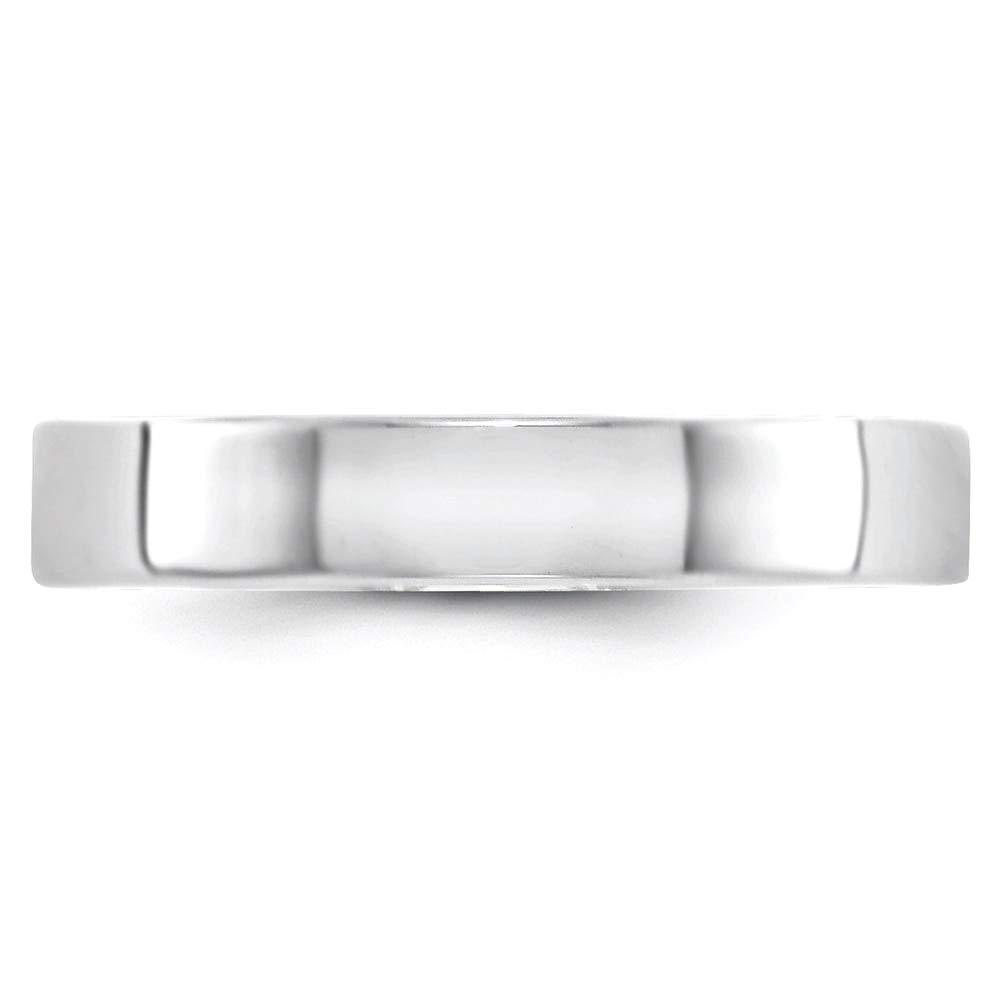 Lex /& Lu 14k White Gold 4mm LTW Flat Band Ring