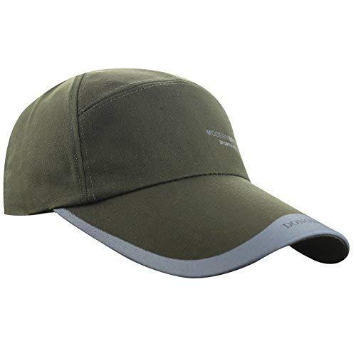 b9c4fa500 Men's Spring Summer Cotton Canvas Long Brim Peaked Running Sun Baseball Cap  Hat