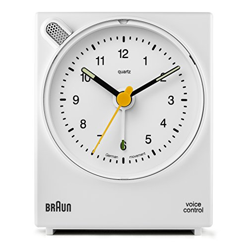 Braun BNC004WHWH Classic Analog Quartz Alarm Clock ()